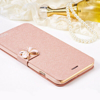 For Meizu S6/M6s M6 Note MX6 M5 Butterfly Silk PU Leather Wallet Flip Case Cover