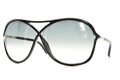 TOM FORD Sunglasses VICKY 184 01B BLACK 65-10-125 Italy New Authentic