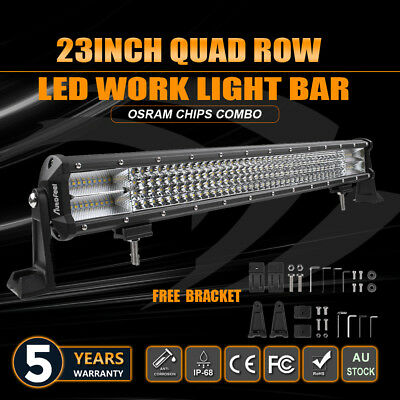 23inch LED Work Light Bar Spot Flood Offroad Driving SUV 4WD Boat Fog Lamp 22''
