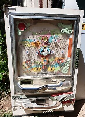 Antique Pachinko Machine *For Parts* with Unicorn Vintage Game Machine
