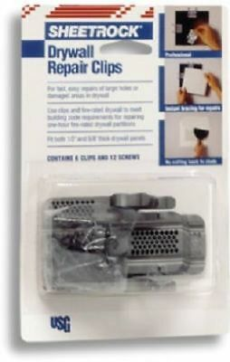 "US Gypsum Sheetrock Brand Drywall Repair Clips For Both 1/2"" and 5/8"" Drywall"