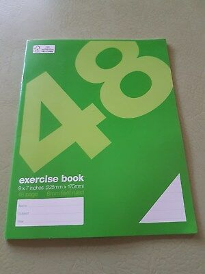 48 page Exercise Book Ruled - 8mm feint **4 for $ 1.00**