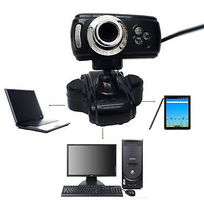 50 Megapixel HD Webcam USB Web Cam Camera & Microphone Mic For Laptop PC