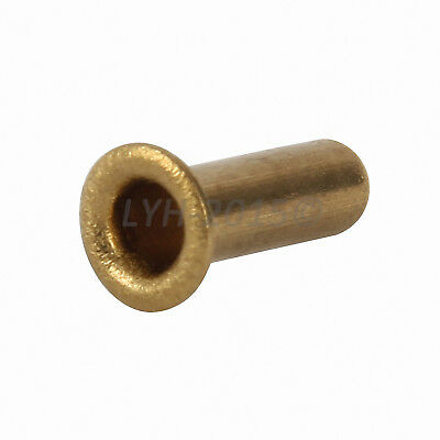M0.9-M2.5 Copper Brass Eyelet Hollow Tubular Rivets Through Nuts Hole Grommets