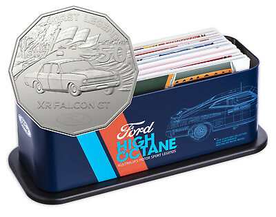 2018 Ford Motorsport High Octane Seven-Coin 50c Unc Collection - Inc Tin