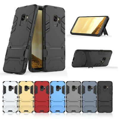 Hybrid Armor Rugged Shockproof Stand Case Cover For Samsung S8 S9 Plus A8 2018