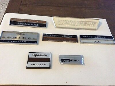 Lot Of 7 Refrigerator Freezer Emblems Admiral Hotpoint Sears Wards