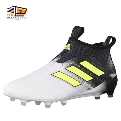 watch 2ce0d c9fd9 ADIDAS-ACE 17+ PURECONTROL Firm Ground Boots-Men White\Solar Yellow\Core  Black