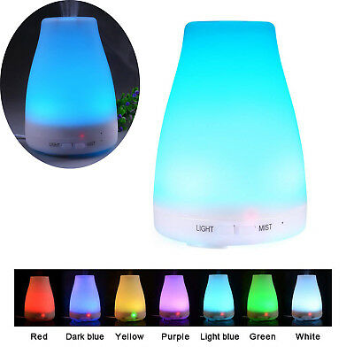 7 LED Essential Oil Diffuser Ultrasonic Aroma Therapy Scent Air Mist Humidifier