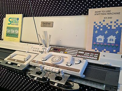 Brother Kh940 knitting machine computerised complete shipping worldwide