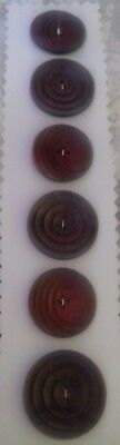 Antique Vintage Buttons Collectable 6 plastic deco 30's sewing craft knitting