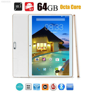 Octa-Core 10'' 4G+64G Android 5.1 Dual Sim 3G Phone Pad Tablette PC Phablet 2018