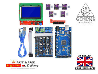 Ramps 1.6 3D Printer kit + 8825 Drivers with Mega2560 Control Board & 12864 LCD