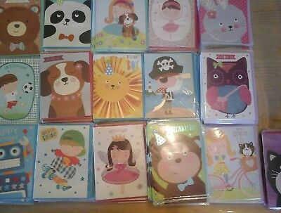50 Kids Cards, Wholesale Joblot Greeting Cards