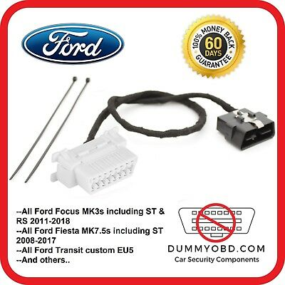 Ford Focus Fiesta Transit Custom Dummy Port Obd Guard Anti Theft Security Block