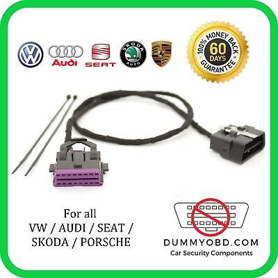 VW AUDI SKODA SEAT PORSCHE DUMMY OBD PORT Anti Theft Security OBD2 GUARD / BLOCK