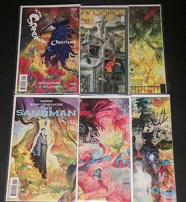 The Sandman Overture (2013) #1-6. NM. Gaiman, Williams III. Vertigo.