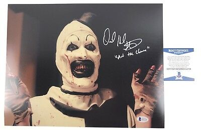 DAVID HOWARD THORNTON signed 11x14 Photo TERRIFIER Art the Clown Beckett