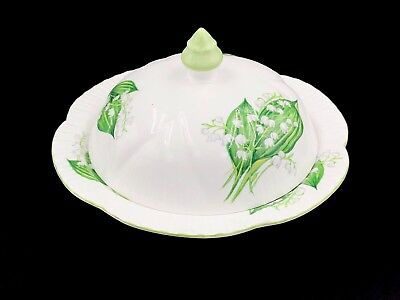 Shelley Lily Of The Valley Covered Muffin Butter Dish Rare Bone China England