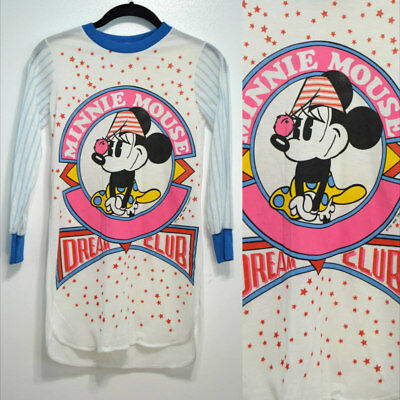 Vintage Disney 1980s Kid's Minnie Mouse Sleep Shirt Nightgown NWOT 80s Cartoon