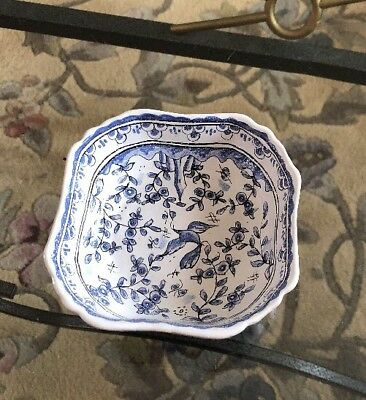 Vintage Blue and White hand painted Square DISH made in Portugal