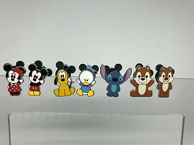 Disney Pin Mickey, Minnie, Pluto, Chip and Dale, Donald Duck Cutie Pin Lot
