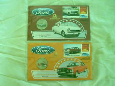2017 Ford 1971 XY Falcon 1965 Cortina PNC ANDA Overprint matching numbers Pair