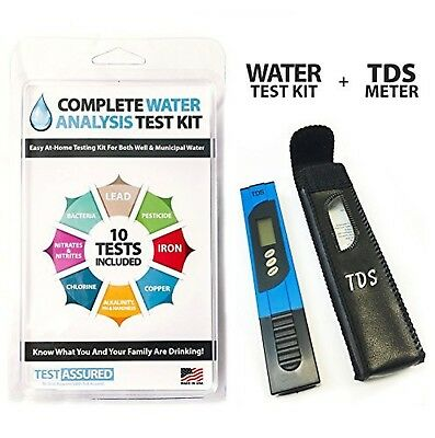 Complete Water Test Kit With TDS Meter - Home Testing With Results In Minutes