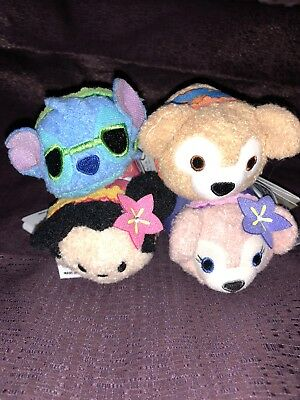 Disney Tsum Tsum AULANI HAWAII EXCLUSIVE Minnie Stitch Duffy ShellieMay Set Of 4