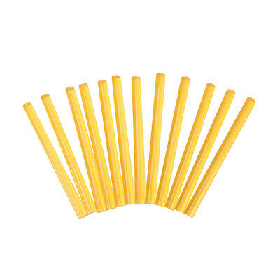 12 x Professional Keratin Glue Sticks for Human Hair Extensions Yellow EO