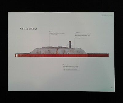 Civil War Print - CSS Louisiana - Confederate Ironclad