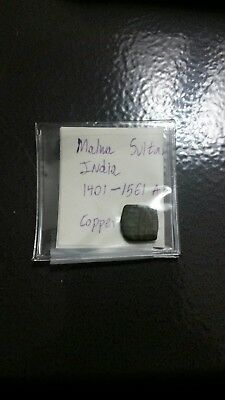 malwa sultanate of india copper piece 1401-1561