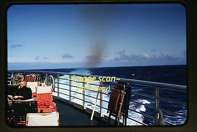1950's Aboard the SS United States Passenger Ship, Original Photo Slide a7a