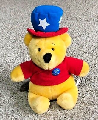 Rare Winnie The Pooh For President 1970's Disney/Sears Plush Bear Poohfessionals