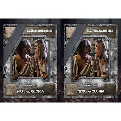 2x FEAR NIGHTMARE MARATHON NICK & GLORIA Walking Dead Card Trader Digital