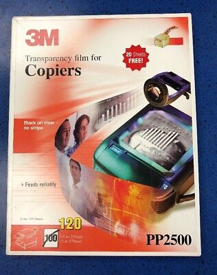 """3M PP2500 Transparency Film For Copiers (105 Sheets) 8 1/2"""" x 11"""" Used"""
