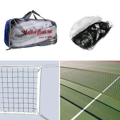 MagiDeal Official Size Volleyball Net Sports Mesh with Steel Cable and Pouch