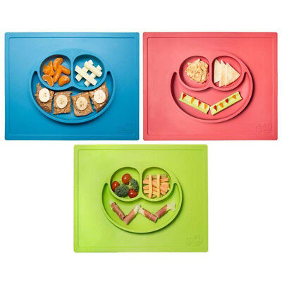 Original Ezpz Happy Mat Silicone Placemat & Plate in One Suction Tray Baby Kids