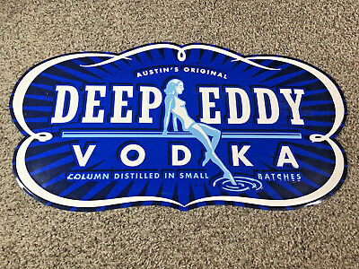 Austin's Original Deep Eddy Distilled Vodka Tin Tacker Sign Metal