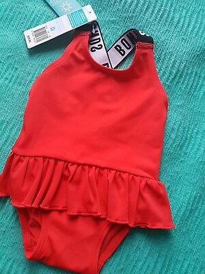 Bonds Toddler Swim Red size 000 ballet  UPF50+ New with tags