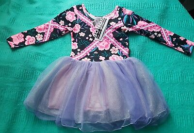 Bonds Pink Tapestry Ballet Tutu Purple floral size 3 NWT