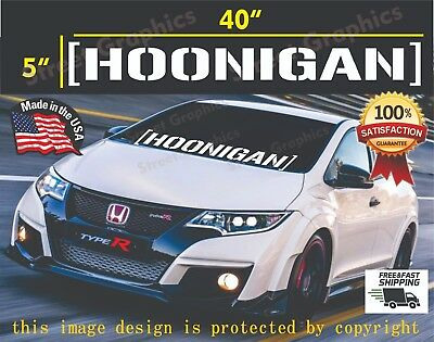 HOONIGAN Vinyl Banner Decal Sticker jdm drift honda subaru