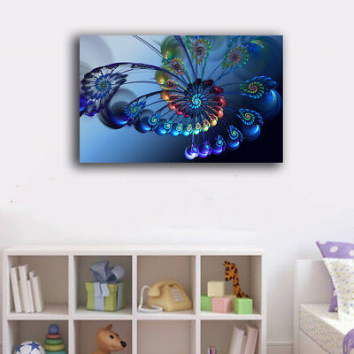Framed Canvas Prints Stretched Abstract Color Flower Wall Art Home Decor Gift