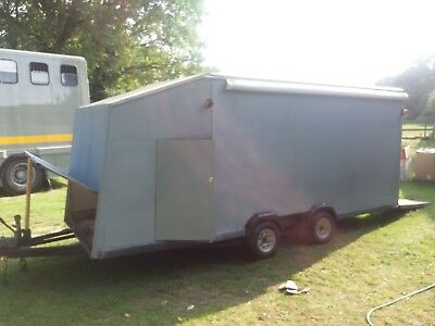 Vehicle Trailer Transporter Enclosed Covered Box Race Car