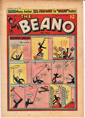 BEANO # 859 January 3rd 1959 comic the New Year issue