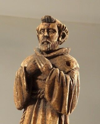 ANCIENT WOODEN icon CARVED RELIGIOUS SANTOS FIGURE