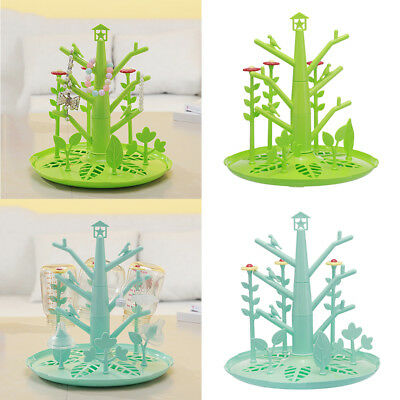Tree Shape Drying Rack Tray/Baby Bottle Cup Accessories/Cleaning Organiser