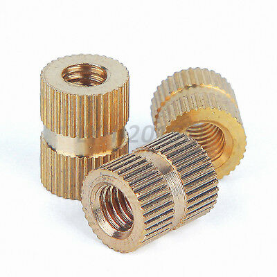 M1.4,2,2.5,3,4,5,6,8 Solid Brass Injection Molding Knurled Thread Inserts Nuts