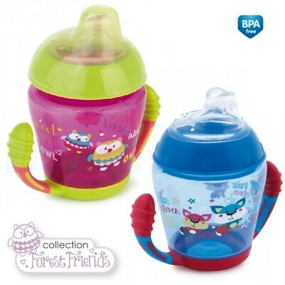 """Happy vehicles & forest friends"" Non spill Cup Soft Silicone Spout 230 ml"