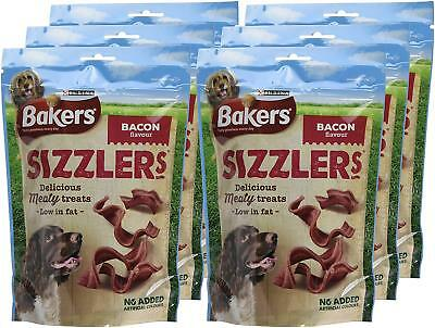 Bakers Sizzlers Delicious Healthy Bacon Dog Treats 120g - CASE of 6 (720g)